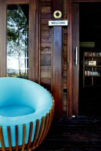 The blue round chair of Rumah Biru