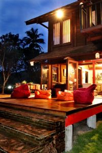 sunrise and sunset deck at Rumah Merah