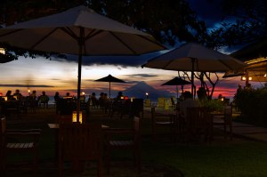 Dinner with sunset view  at Basilico, Kila Senggigi, Lombok