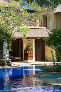 Each Villa has  direct access to the pool