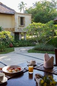 Breakfast, Pool Villa Club Senggigi restaurant terrace
