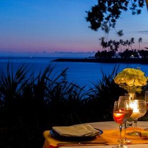 The View of Kila Senggigi Peninsula from The Beach Comber Brasserie beach hut